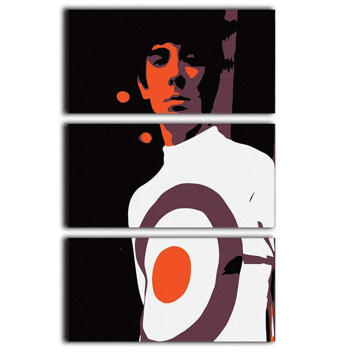 Keith Moon 3 Split Panel Canvas Print