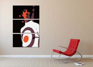 Keith Moon 3 Split Panel Canvas Print - Canvas Art Rocks - 2