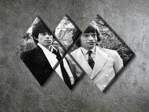 Keith Richards and Mick Jagger 4 Square Multi Panel Canvas - Canvas Art Rocks - 2