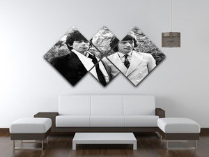 Keith Richards and Mick Jagger 4 Square Multi Panel Canvas - Canvas Art Rocks - 3