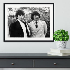 Keith Richards and Mick Jagger Framed Print - Canvas Art Rocks - 1