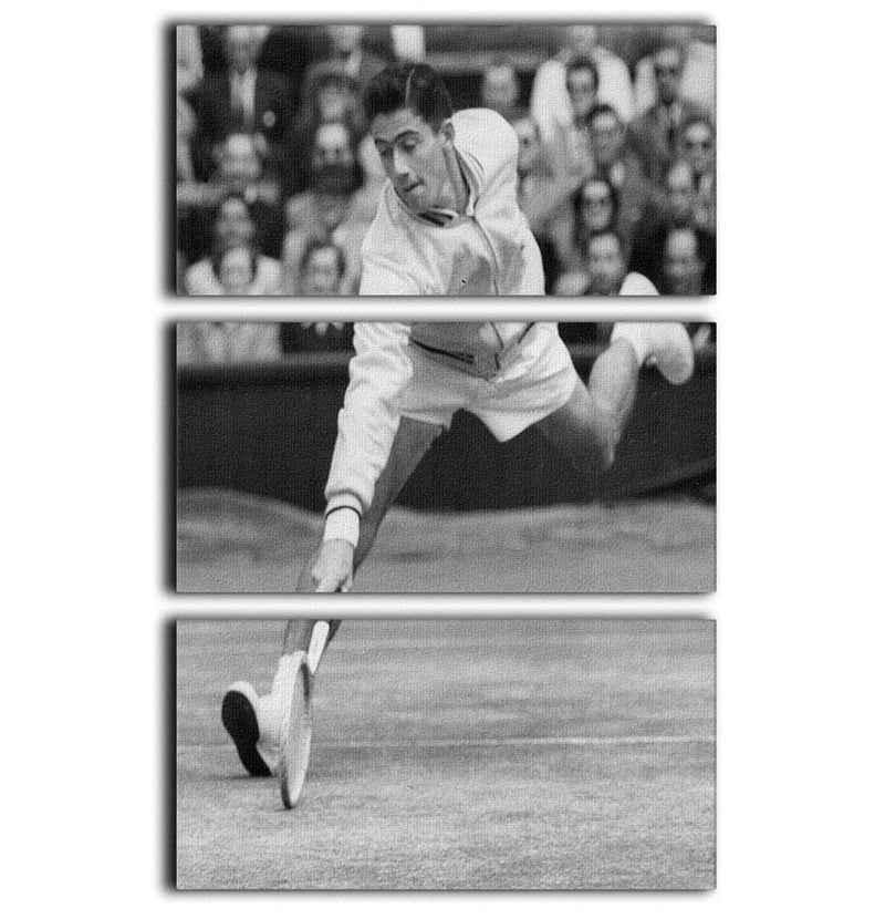 Ken Rosewall in action at Wimbledon 3 Split Panel Canvas Print - Canvas Art Rocks - 1