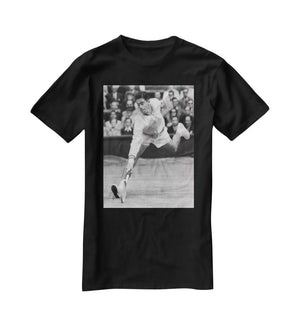 Ken Rosewall in action at Wimbledon T-Shirt - Canvas Art Rocks - 1