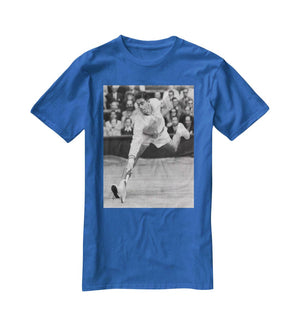 Ken Rosewall in action at Wimbledon T-Shirt - Canvas Art Rocks - 2