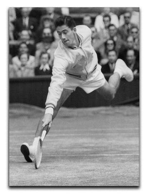 Ken Rosewall in action at Wimbledon Canvas Print or Poster  - Canvas Art Rocks - 1