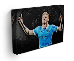 Kevin De Bryne Man City Print - Canvas Art Rocks - 3