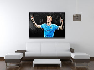 Kevin De Bryne Man City Print - Canvas Art Rocks - 4