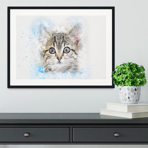 Kitten Painting Framed Print - Canvas Art Rocks - 1