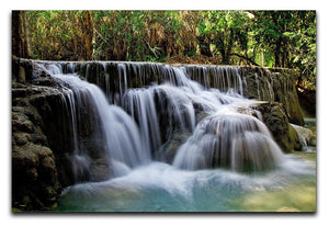 Kuang Si-Falls Print - Canvas Art Rocks - 1