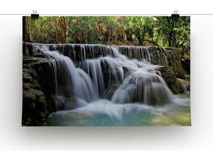 Kuang Si-Falls Print - Canvas Art Rocks - 2