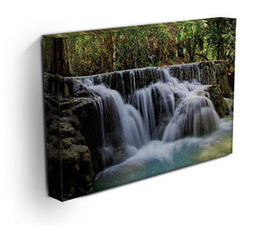 Kuang Si-Falls Print - Canvas Art Rocks - 3