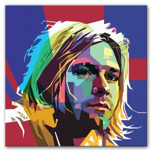 Kurt Cobain Mosaic Print - Canvas Art Rocks