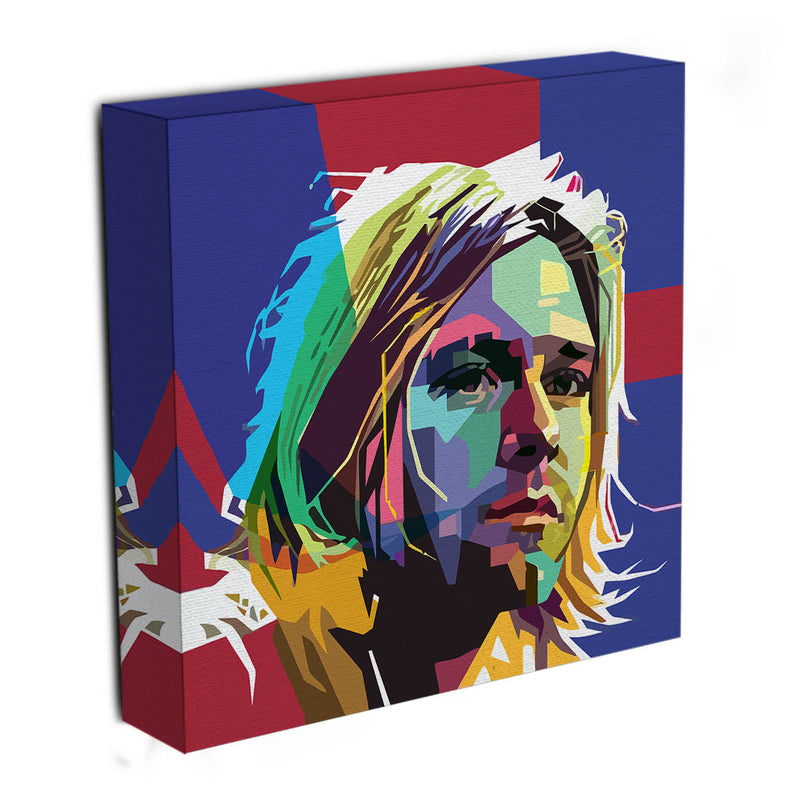 Kurt Cobain Mosaic Canvas Print & Poster - US Canvas Art Rocks
