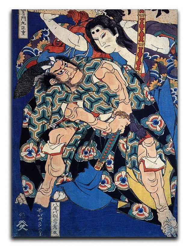 Kusunuki Tamonmaru by Hokusai Canvas Print or Poster  - Canvas Art Rocks - 1