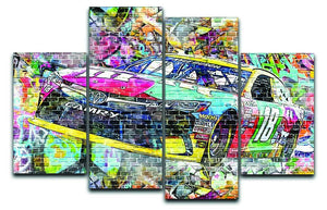 Kyle Busch Nascar Camry 4 Split Panel Canvas  - Canvas Art Rocks - 1