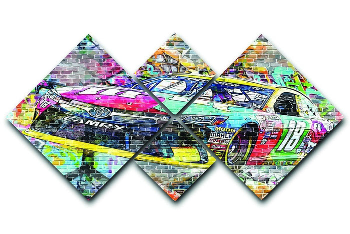 Kyle Busch Nascar Camry 4 Square Multi Panel Canvas