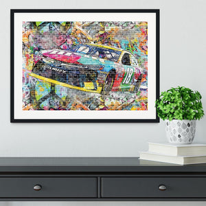 Kyle Busch Nascar Camry Framed Print - Canvas Art Rocks - 1