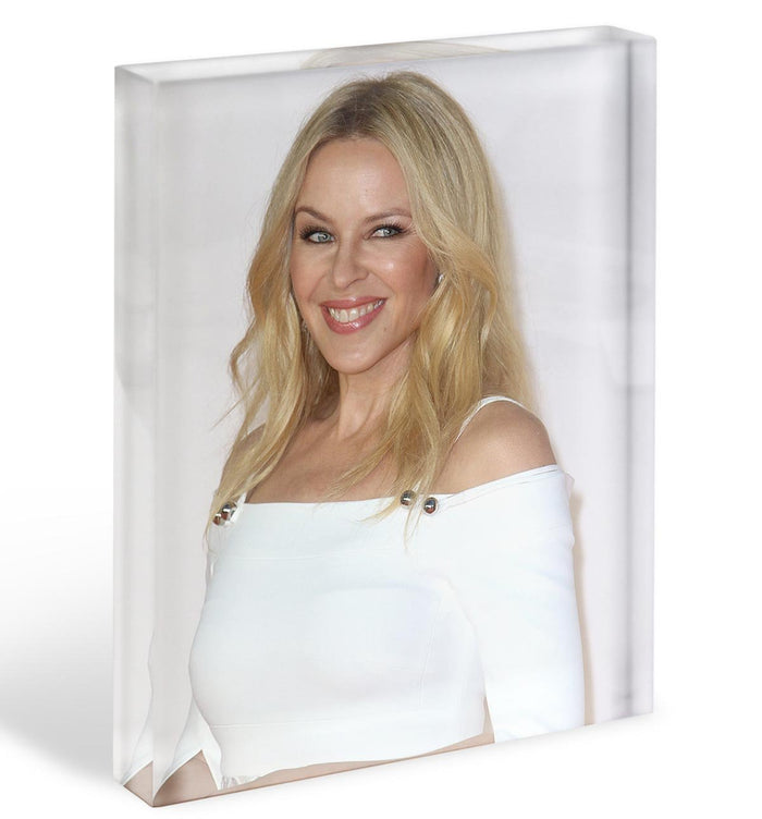 Kylie Minogue in white Acrylic Block