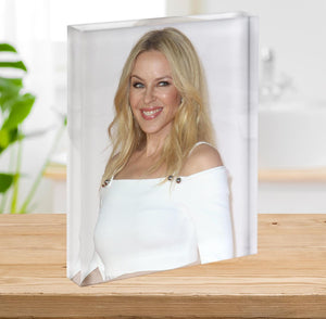 Kylie Minogue in white Acrylic Block - Canvas Art Rocks - 2