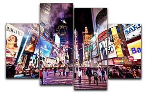 LED signs Broadway Theaters 4 Split Panel Canvas  - Canvas Art Rocks - 1