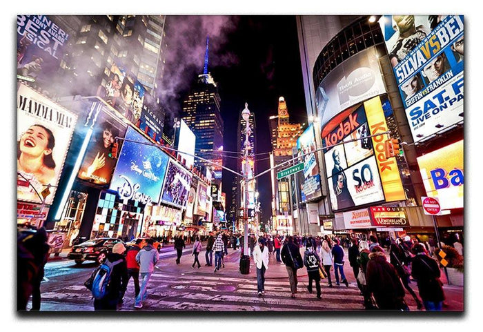 LED signs Broadway Theaters Canvas Print or Poster
