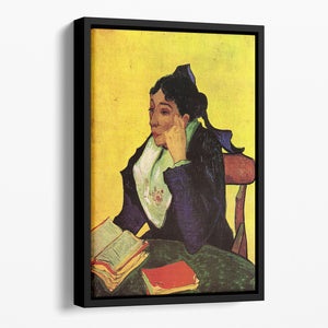 L'Arlesienne Madame Ginoux with Books by Van Gogh Floating Framed Canvas
