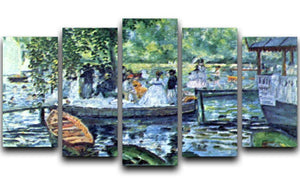 La Grenouillere1 by Renoir 5 Split Panel Canvas  - Canvas Art Rocks - 1
