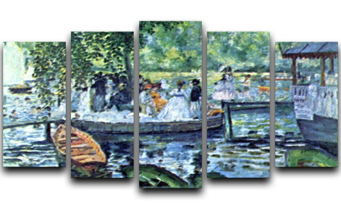 La Grenouillere1 by Renoir 5 Split Panel Canvas