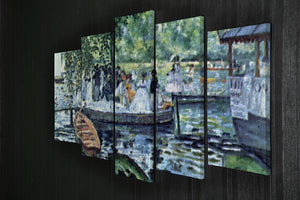 La Grenouillere1 by Renoir 5 Split Panel Canvas - Canvas Art Rocks - 2