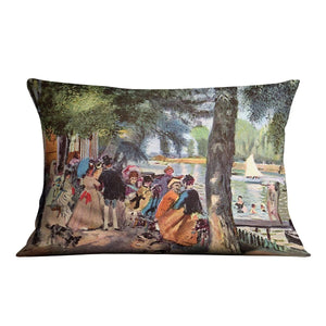 La Grenouillere by Renoir Throw Pillow