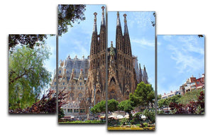 La Sagrada Familia 4 Split Panel Canvas  - Canvas Art Rocks - 1