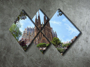 La Sagrada Familia 4 Square Multi Panel Canvas  - Canvas Art Rocks - 2