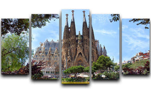 La Sagrada Familia 5 Split Panel Canvas  - Canvas Art Rocks - 1