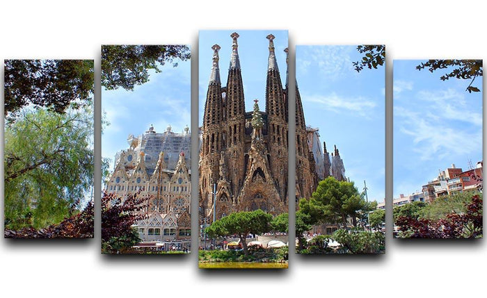 La Sagrada Familia 5 Split Panel Canvas