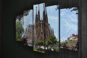 La Sagrada Familia 5 Split Panel Canvas  - Canvas Art Rocks - 2