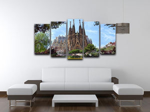 La Sagrada Familia 5 Split Panel Canvas  - Canvas Art Rocks - 3