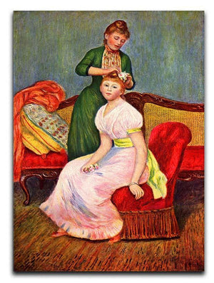 La coiffure by Renoir Canvas Print or Poster  - Canvas Art Rocks - 1