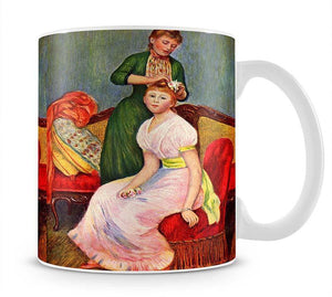La coiffure by Renoir Mug - Canvas Art Rocks - 1