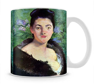 Lady in Fur by Manet Mug - Canvas Art Rocks - 1