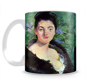 Lady in Fur by Manet Mug - Canvas Art Rocks - 2