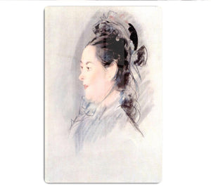Lady with Hair Up by manet HD Metal Print