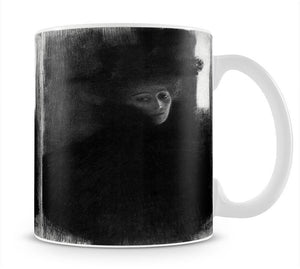 Lady with a hat and Cape by Klimt Mug - Canvas Art Rocks - 1