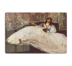 Lady with fan by Manet HD Metal Print