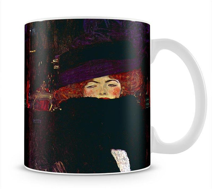 Lady with hat and feather by Klimt Mug