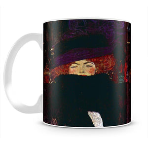 Lady with hat and feather by Klimt Mug - Canvas Art Rocks - 2