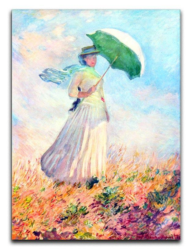 Lady with sunshade study by Monet Canvas Print or Poster