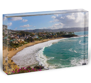 Laguna Beach Crescent Cove Acrylic Block - Canvas Art Rocks - 1