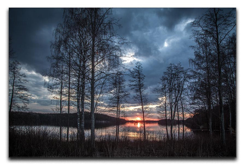 Lake Sunset Print - Canvas Art Rocks - 1