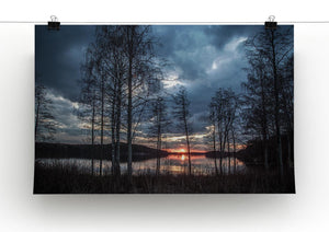 Lake Sunset Print - Canvas Art Rocks - 2