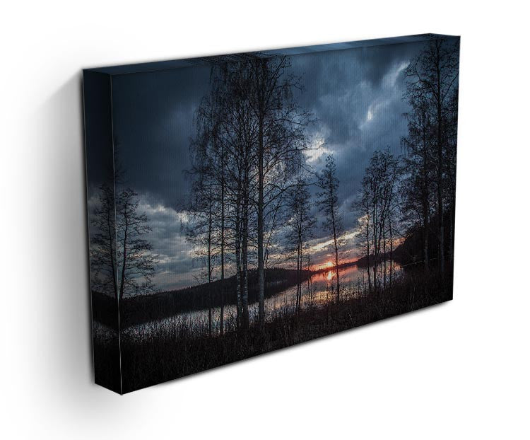 Lake Sunset Print - Canvas Art Rocks - 3